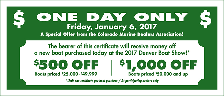 Boat show coupons